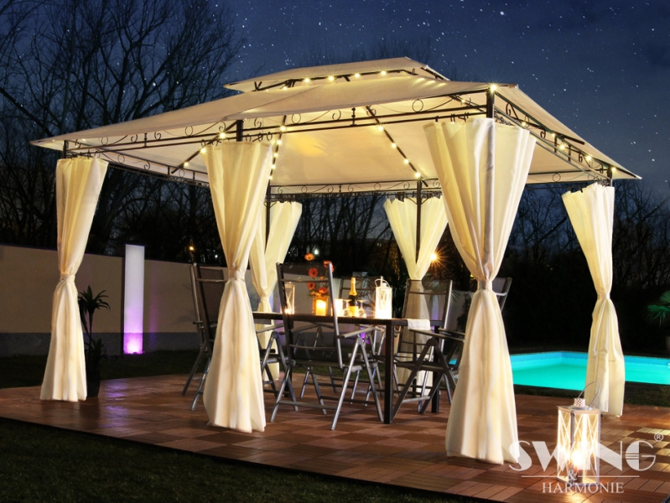 led luxus pavillon minzo 3x4 m. Black Bedroom Furniture Sets. Home Design Ideas