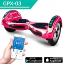 Hoverboard E-Balance Scooter 800 Watt mit APP Pink Chrome