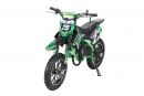 Kinder Mini Crossbike Gepard 2-Takt - Tuning Kupplung Easy Pull Start Grün